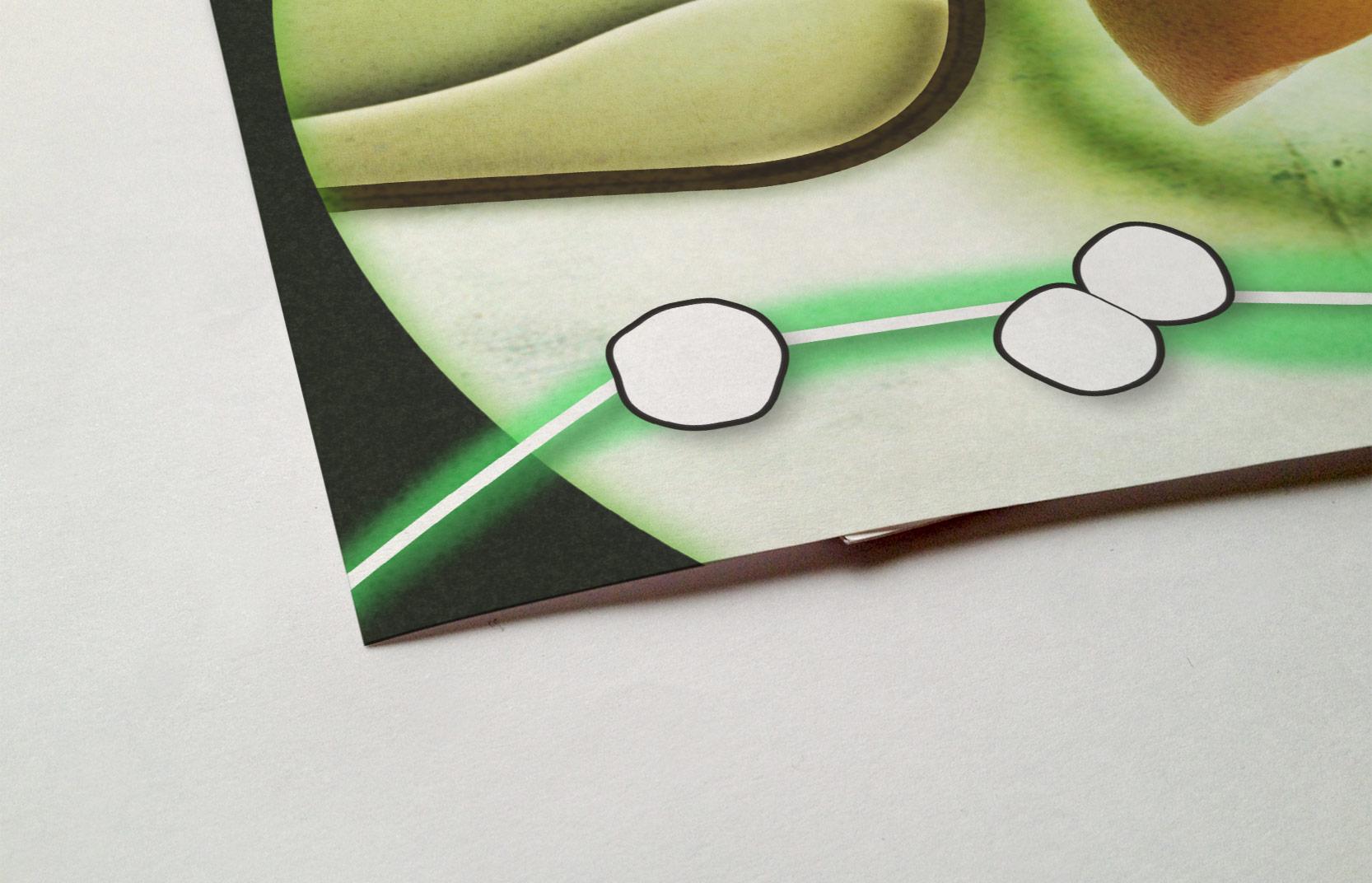 Close-up van illustratie voor Nederlandse transplantatie stichting door Moederschip 2014